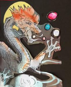 月と龍と龍珠