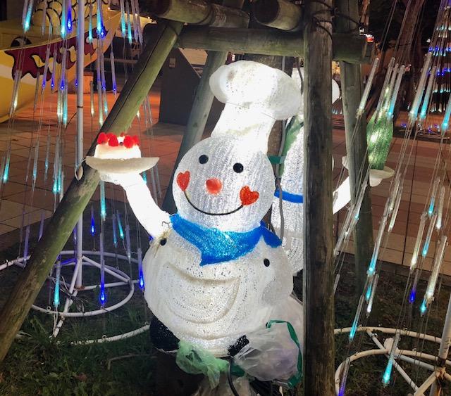 クリスマスイヴ 光の雪だるま